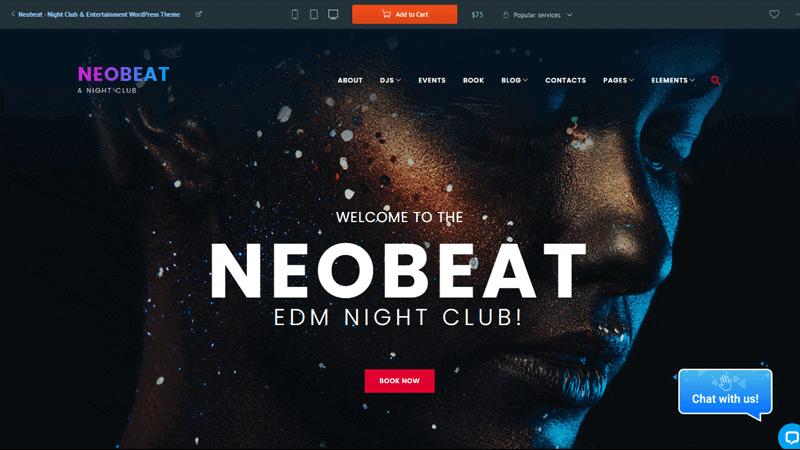 Neobeat WordPress theme