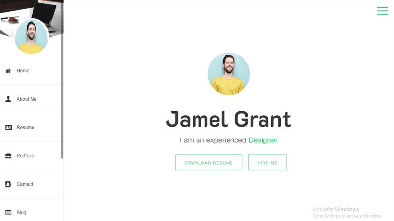 Preview screenshots of Online CV Resume WordPress theme