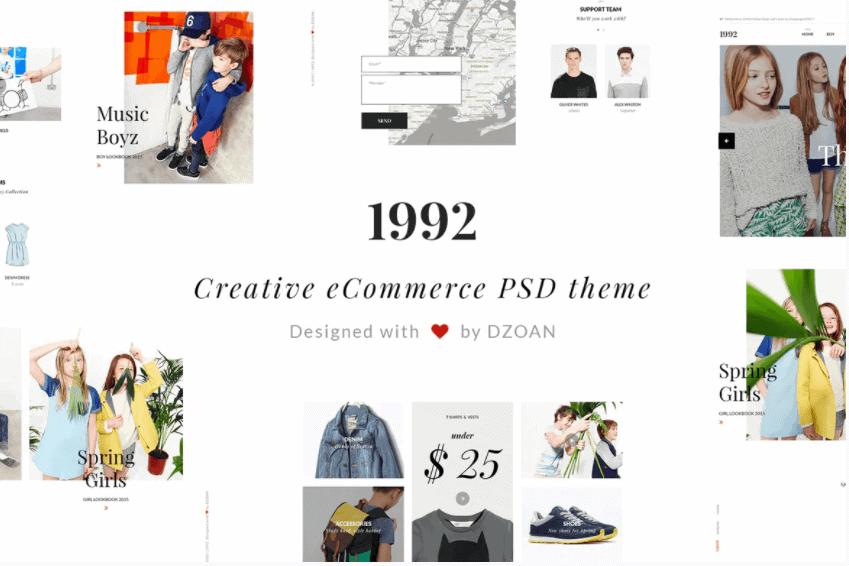 1992 Creative e-Commerce adobe photoshop templates free download