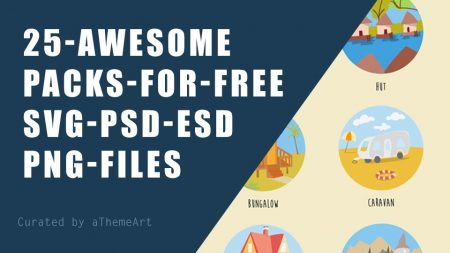 25 Awesome Icon Packs free ( SVG, PSD, EDS, PNG ) files included