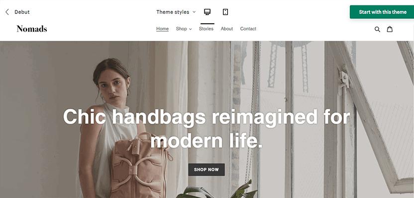 Debut - Shopify free theme download