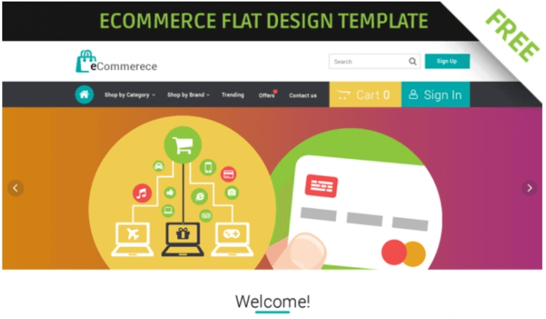 eCommerce Flat Design Web Template