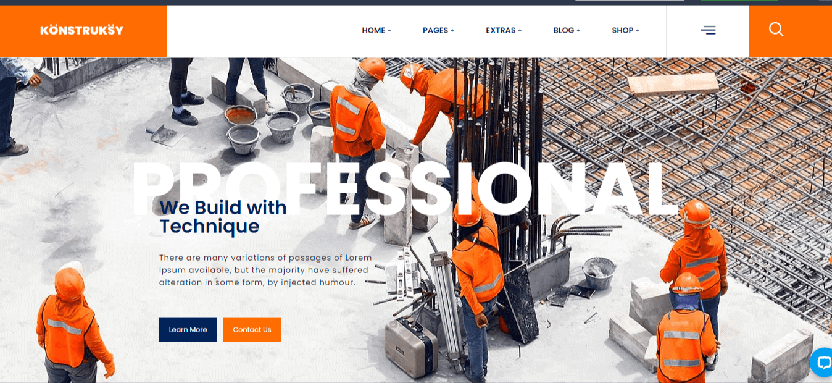 Construction Engineering WordPress Theme