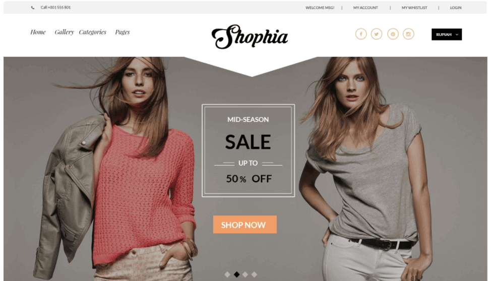 Shophia – Ecommerce Template