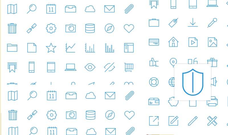 Free UXPin icon set
