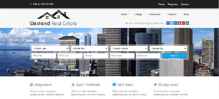 Westend - property WordPress Theme
