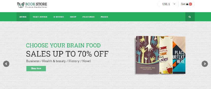 Book store WordPress theme
