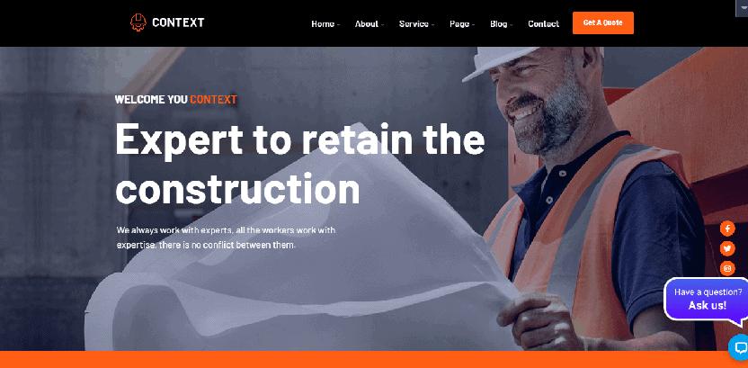 Context - theme for architecture portfolio