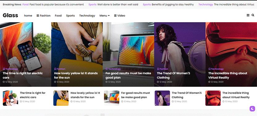 Glass - Responsive News and Magazine Theme