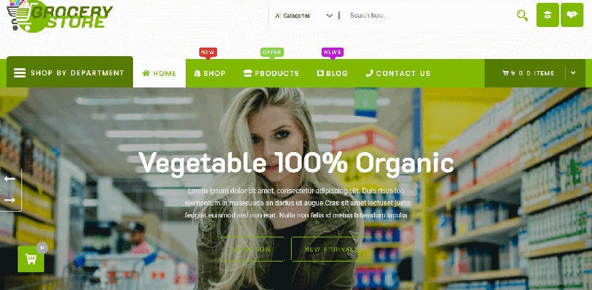 Grocery Store - best WordPress theme for food blog