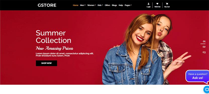 GSTORE Multipurpose Website