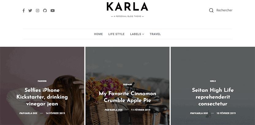 Karla - Blogger Template for Affiliate Marketing