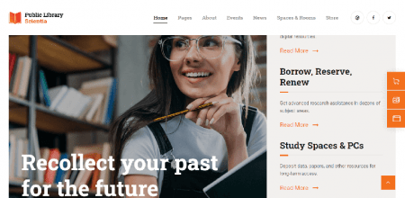 Bookstore WordPress Theme