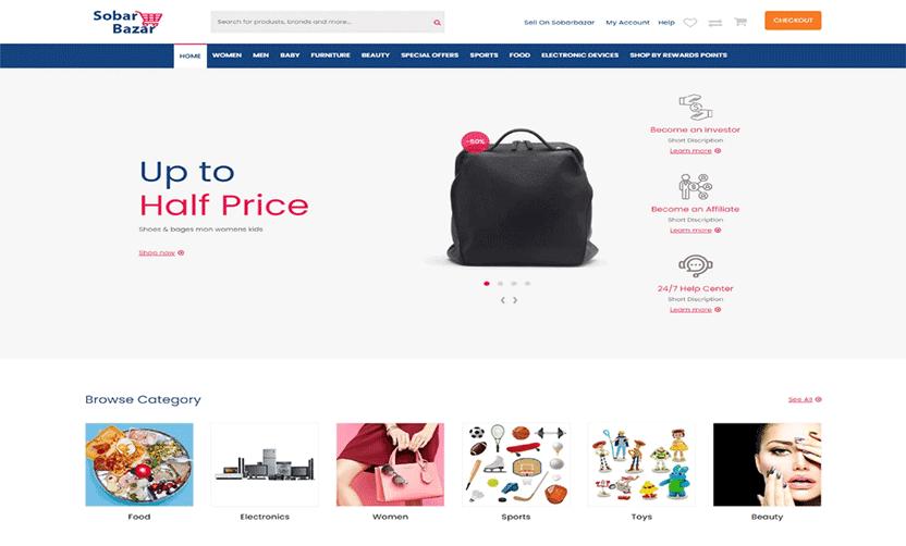 Sobarbazar - eCommerce html Template