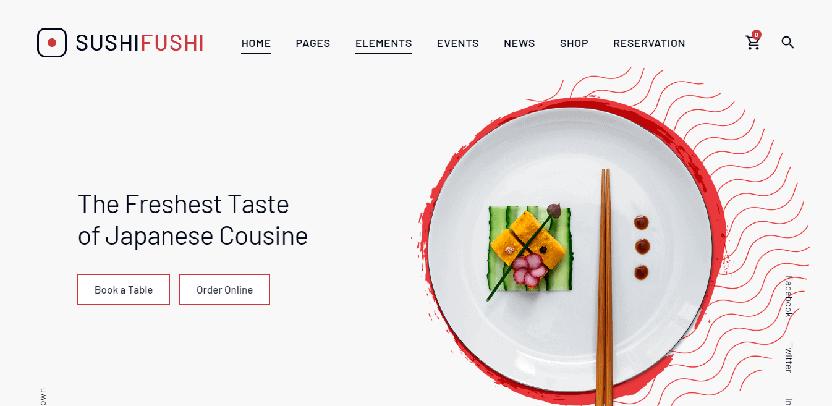 Sushi Fushi - food blog WordPress theme
