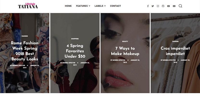 Tatiana - a Multi-Purpose Blogspot Template