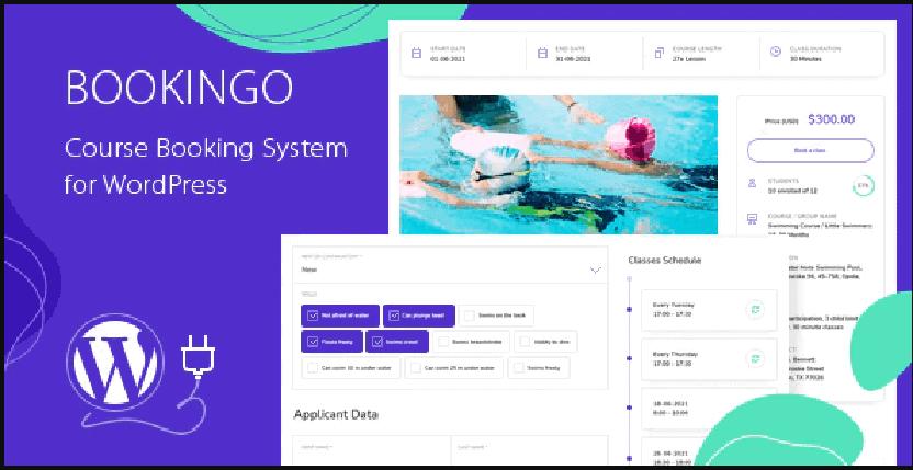 Bookingo - course booking system WordPress