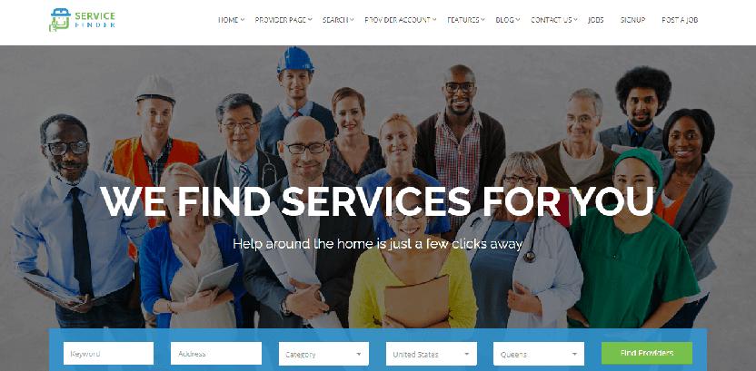 WordPress Service Finder