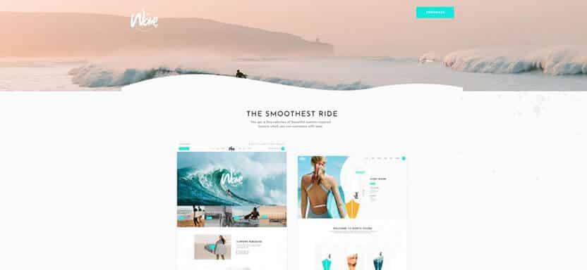 waveride surfing wordpress themes