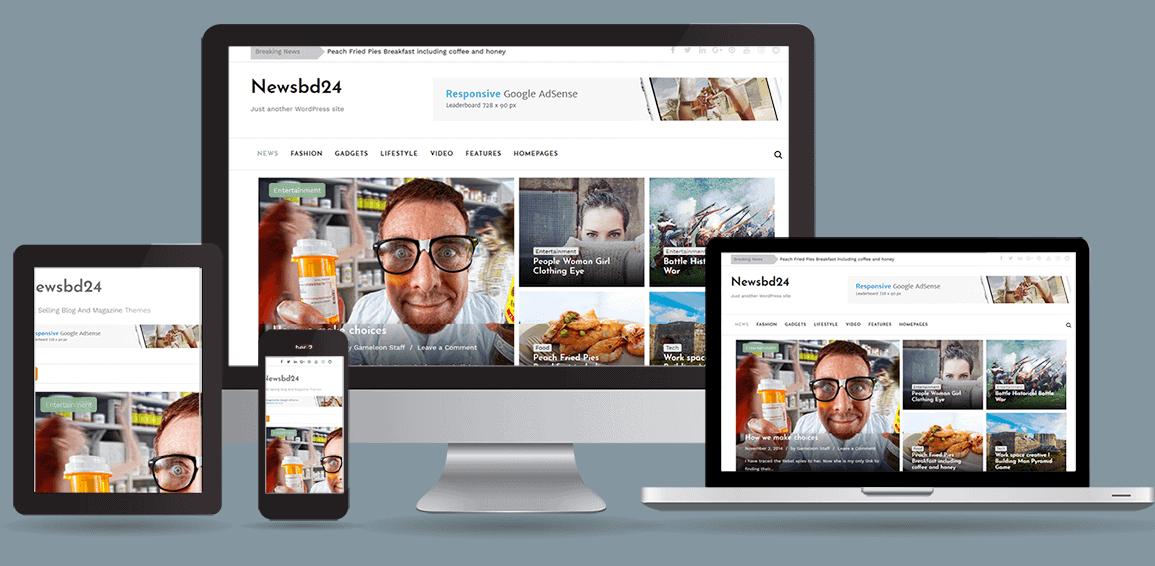 NewsBd24 Newspaper, blog & magazine WordPress theme