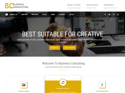 BC – Flat Design WordPress Theme
