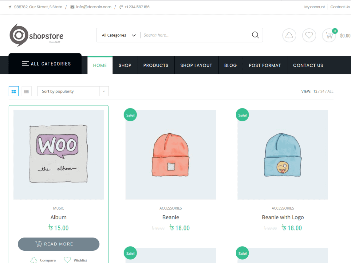 free ecommerce theme for wordpress
