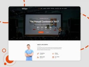 Geinuine – Conference and Event free templates webpage