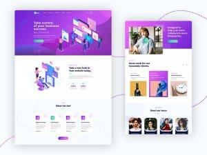 Suka – Free Landing Page PSD template