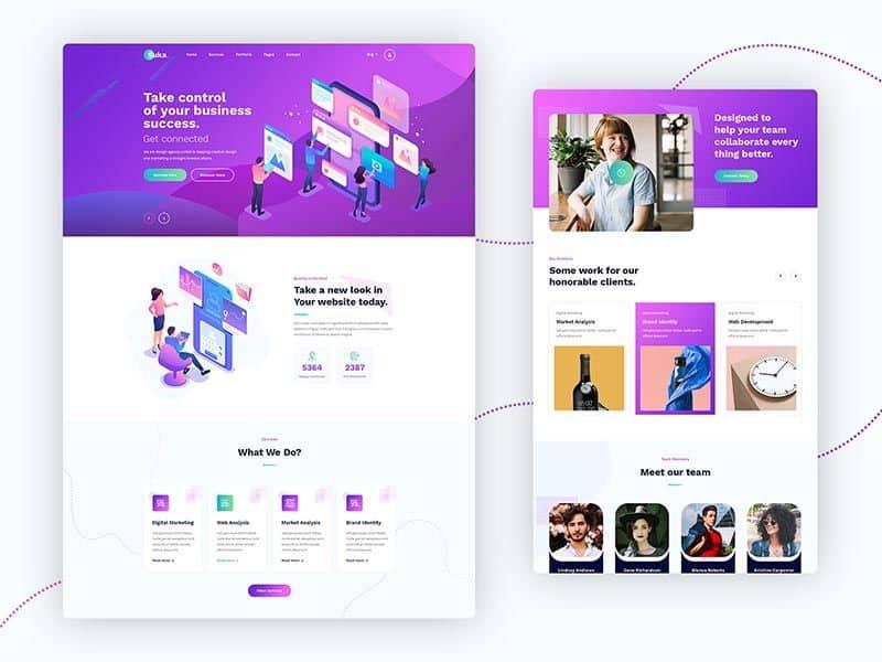Suka - Free Landing Page PSD template