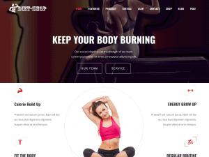 Diet-Shop WordPress Gym Theme