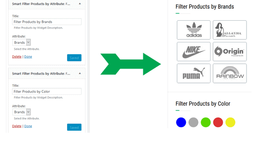 product filter by attribute woocommerce