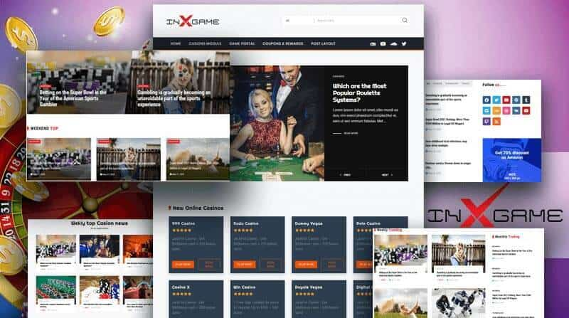 Gambling, Casino Reviews, News & Casino Affiliate WordPress Theme.