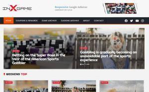 INX-GAME free WordPress Gaming, Casino Themes
