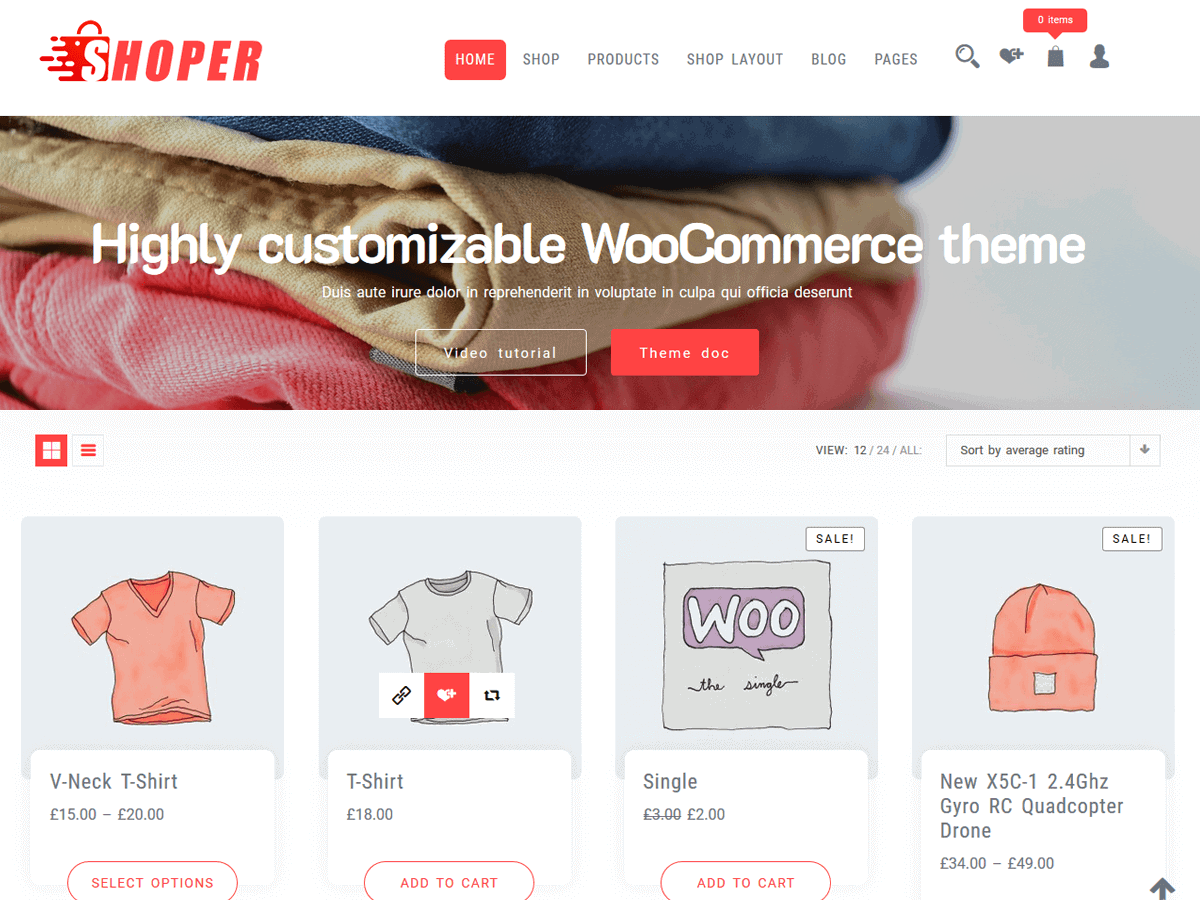 WordPress shop theme free
