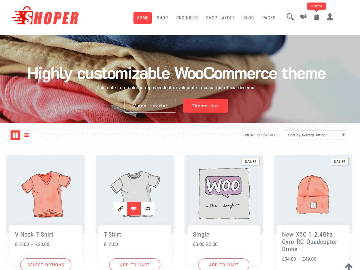 WordPress shop theme free
