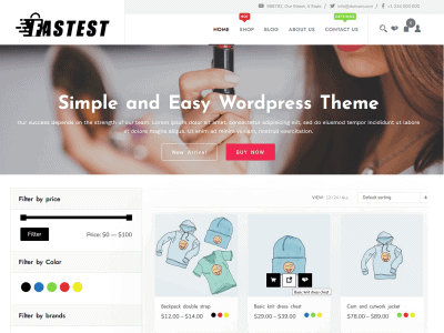 Fastest Shop WordPress Free Online Store Theme